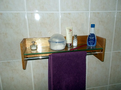 DIY Bathroom Shelf and Towel Rack 17