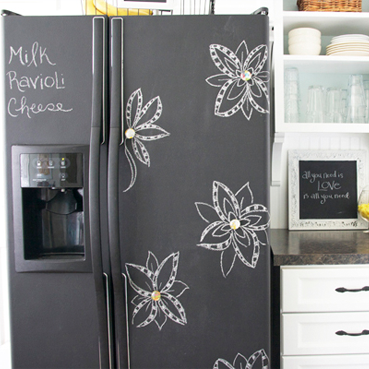 Turn your fridge into a chalkboard