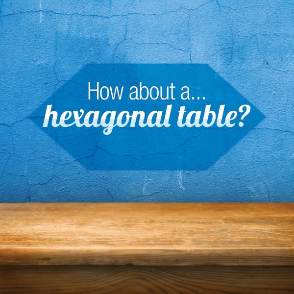 make a trendy hexagonal table