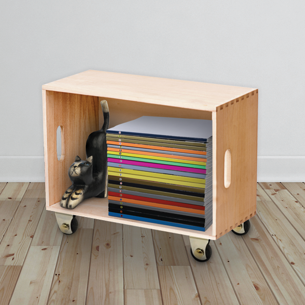 Upcycle a Crate into a Storage Case for Magazines