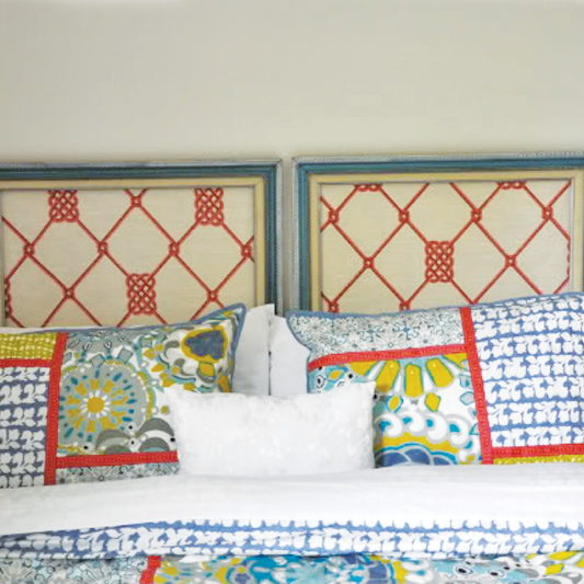 Make a Trendy Headboard out of Picture Frames
