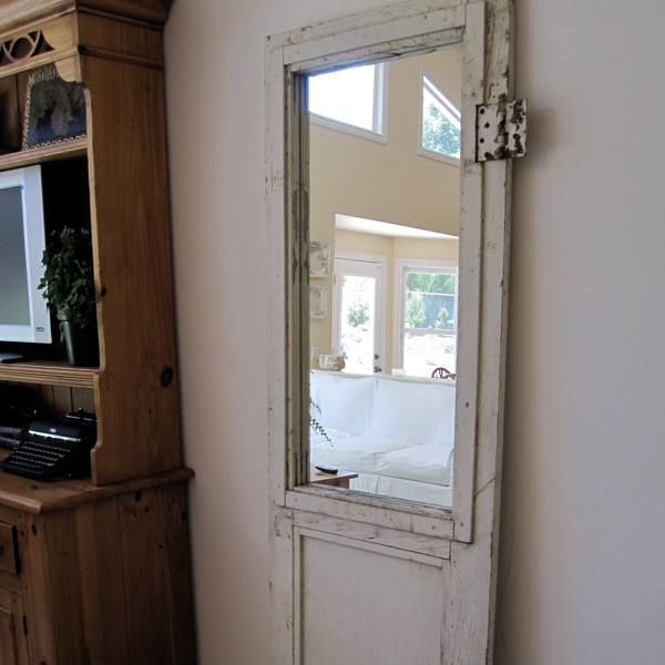 Turn An Old Door Into A Mirror