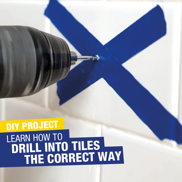 How to drill into tiles