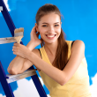 Ensure safety while using a ladder