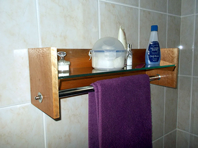 DIY Bathroom Shelf and Towel Rack 16
