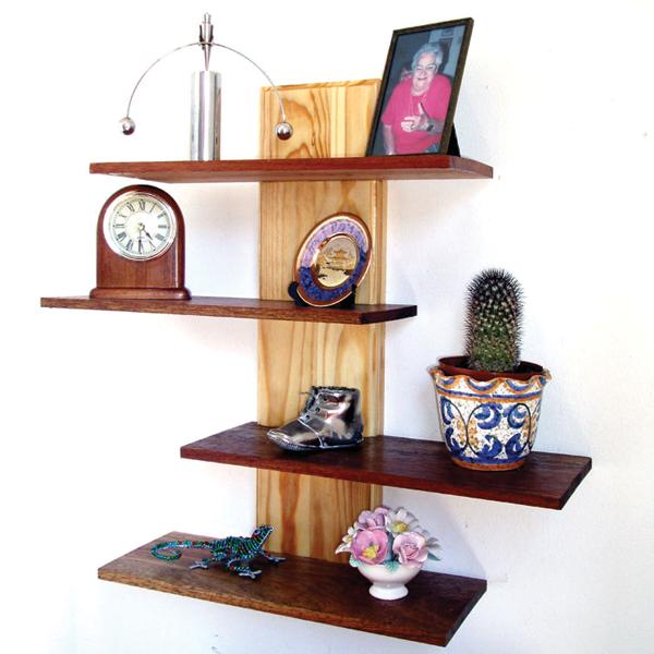 Make an adjustable floating shelf