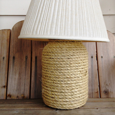 Give and Old Lamp a Refreshing Nautical Look