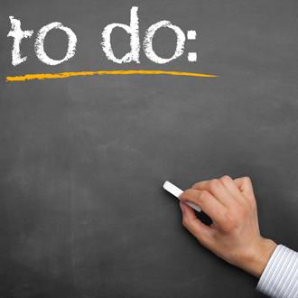 Make a to-do list chalkboard