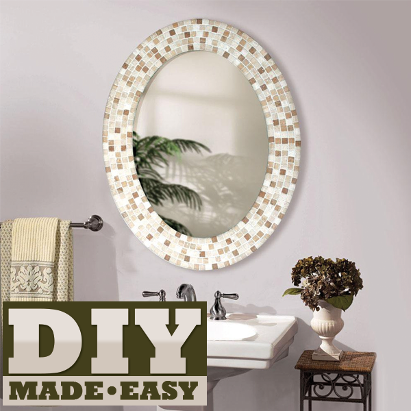 how do you frame a bathroom mirror make a mosaic mirror 26027