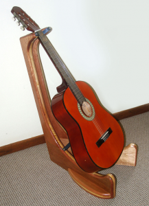 Guitar stand with guitar